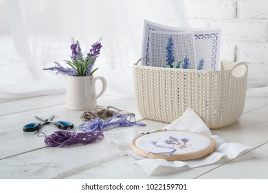 Plastic basket - home organizers for handmade accessories