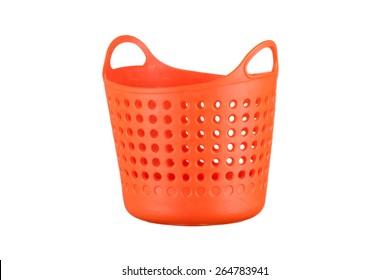 plastic basket isolated on white background