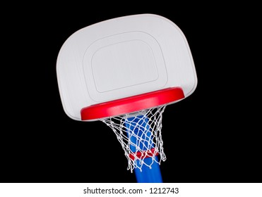 Children's Plastic Basketball Hoop Cropped Angle