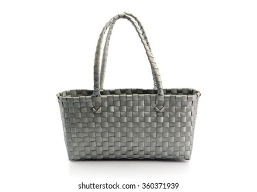 plastic baskets bag on white background