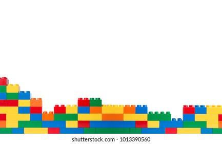 plastic block isolated on white background