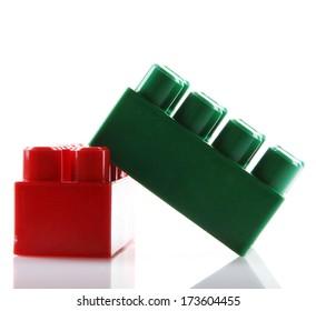 Plastic Blocks Isolated On white