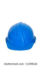 Plastic blue safety hard hat