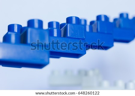 plastic blue steps isolated on white stock photo edit now