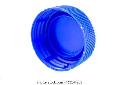 plastic bottle cap isolated on white background