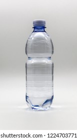 Plastic bottle of half-liter mineral water