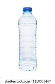 Plastic bottle of mineral still healthy water isolated on white