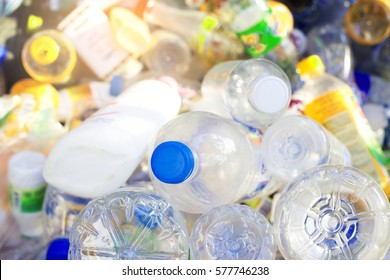 Plastic bottle in recyclable waste,Garbage recycle management.