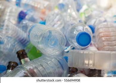 Plastic bottle in recyclable waste,Management recycle waste concept.