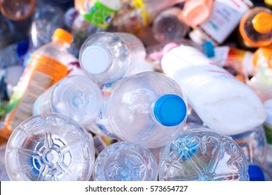 Plastic bottle in recyclable waste,Management recycle garbage concept.