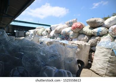 Plastic bottle recycle in Bali Idonesia