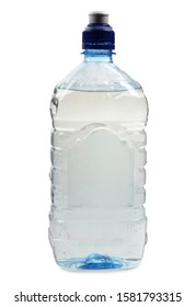 Plastic bottle whit water on white background