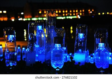 Plastic bottles art light