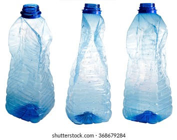 Plastic bottles isolated on white