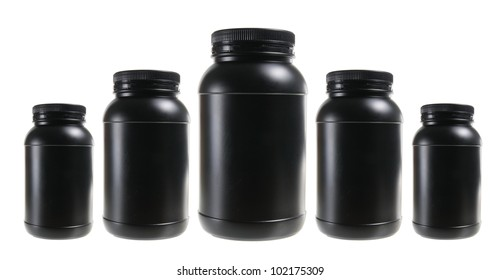 Plastic Bottles on White Background