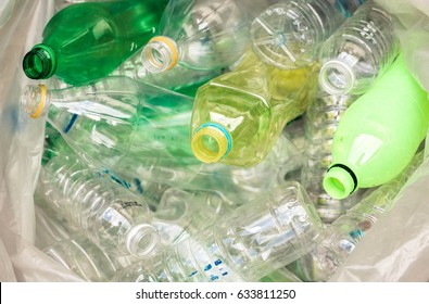 Plastic bottles for recycle