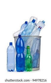 Plastic bottles in recycling concept