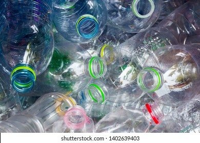 plastic bottles. recycling To conserve the environment concept