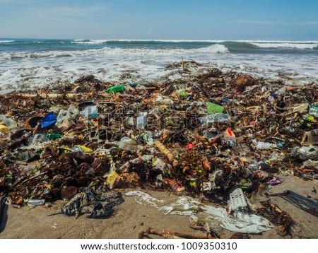 Plastic Bottles Trash On Beach Bali Stock Photo Edit Now