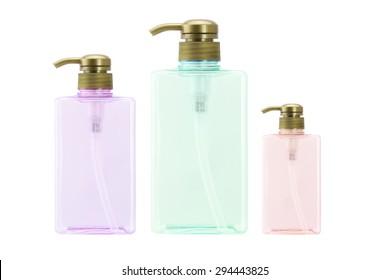 plastic bottles/pump bottles