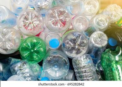 plastic bottles,Recycle waste management concept.