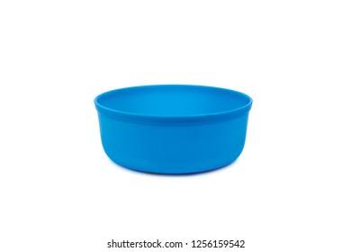 Plastic bowl isolated on white background