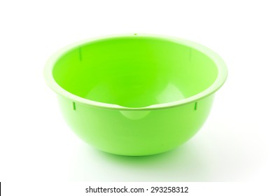 plastic bowl on white background