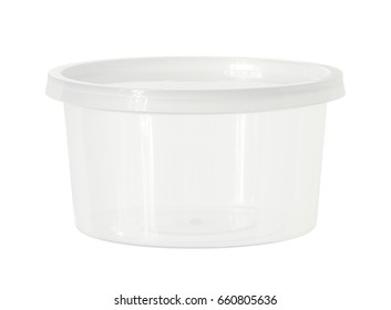 Plastic box (with clipping path) isolated on white background