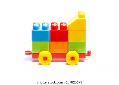 Plastic building blocks, toys