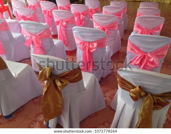 Fine Plastic Chairs Cover White Cloth Pink Stock Photo Edit Now Bralicious Painted Fabric Chair Ideas Braliciousco