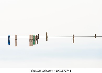 Plastic clothespins for hanging clothes