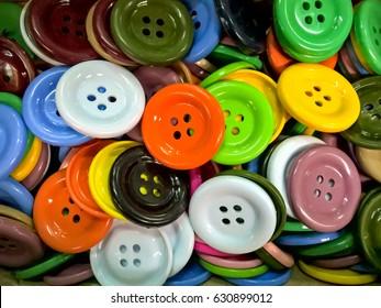 Plastic colorful button