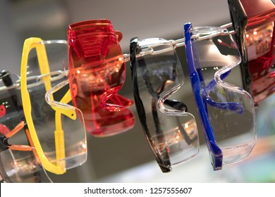 plastic construction glasses in the store
