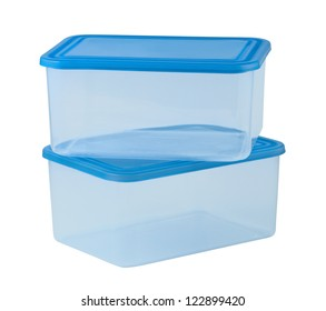 Plastic container for food isolated on white background