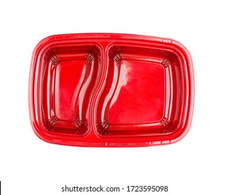 Plastic container isolated on white background,topview