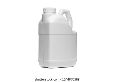 Plastic container on a white background
