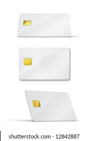 Plastic Credit Cards Mockup. Clipping Path