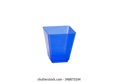 plastic cups for food and canapes on a white background