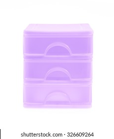 plastic drawers isolated on a white background