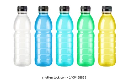 plastic drink bottle isolated on white background