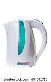 Plastic electric kettle  isolated on white background.