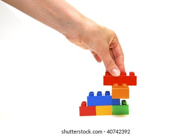 Plastic elements blocks for the designer