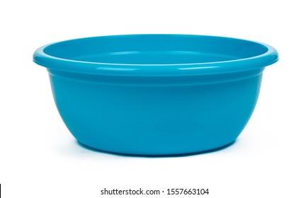 Plastic empty basin isolated on white background