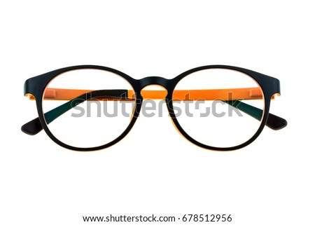 431ecfba52fa Plastic Eyeglass Frames Orange Fashionable Eye Stock Photo (Edit Now ...