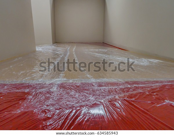 Plastic Film Cover Floor Carpet While Stock Photo Edit Now
