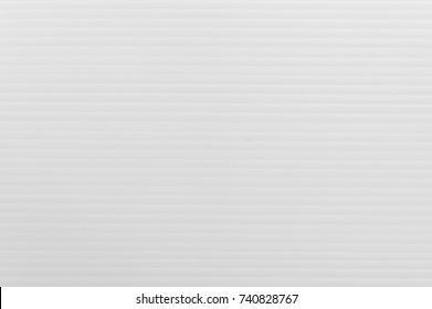 Plastic flute board texture background, white color