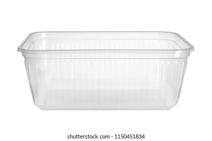 Plastic food box (with clipping path) isolated on white background