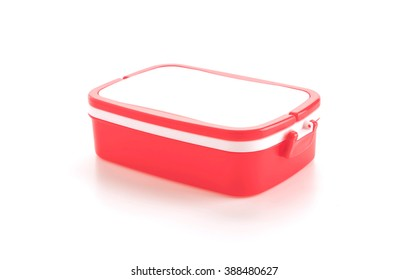plastic food carrier on white background