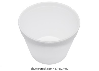 Plastic food container for soup. Catering food packaging. Disposable food box.
