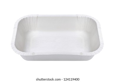Plastic Food tray on White Background